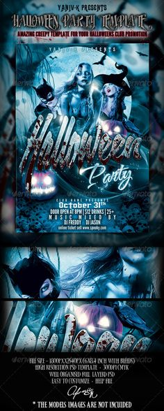 DOWNLOAD THIS FLYER HERE > http://graphicriver.net/item/halloween-party-flyer-template/2994896?ref=anothergraphic