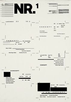 Typographic Process 1 - Organized Text Structures by Wolfgang Weingart - 1970s