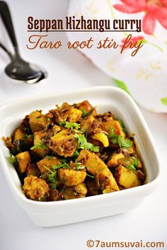 Seppan kizhangu curry / Taro root stir fry / Arbi stir fry / Seppan kizhangu masala | 7aum Suvai