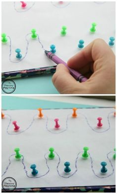 Pin Pre-Writing Activity for Kids Push Pin Maze Pre-Writing Activity for kids.Push Pin Maze Pre-Writing Activity for kids. Motor Skills Activities, Montessori Activities, Writing Activities, Educational Activities, Preschool Activities, Montessori Materials, Physical Activities, Toddler Learning, Preschool Learning