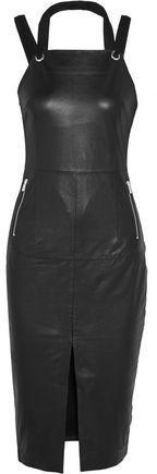 Rebecca Vallance Leather Midi Dress