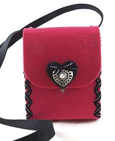 """Herbys Trachtentasche """"Lady"""" pink, Dirndltasche, Filztasche, Handmade in Österreich Herbys-Trendartikel http://www.amazon.de/dp/B012TVAT8U/ref=cm_sw_r_pi_dp_PznUvb101F21V"""