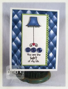 Lighthearted Wishes stamp set from Gina K Designs -  card by Lori McAree