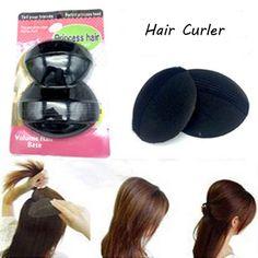 1 Set = 2 pcs Princess Head Sponge Hair Pad Woman Beauty Volume Hair Base Bump Styling Insert Pad ,Fashion Hair Curler Tool