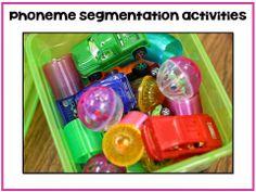 Phoneme Segmentation with Dollar Tree treasures!