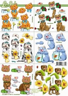 Le Suh Cut out sheet anistencils 777 429 - Animals
