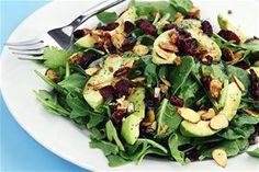 Anamikti salata me avokanto kranmperis kai amygdala