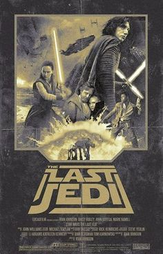 Star Wars: The Last Jedi Retro Poster - Messtonio Panderas