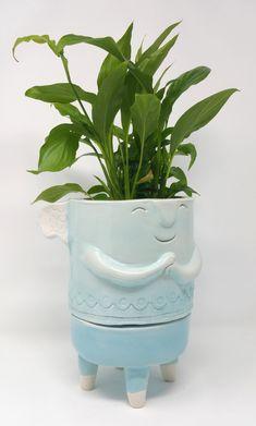 Vasi in ceramica - The TerraTiny Family - Max Schiavetta Planter Pots, Vase, Home Decor, Decoration Home, Room Decor, Vases, Home Interior Design, Home Decoration, Interior Design