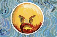 #VanGogh #emoticon version. #emoji #emoticono