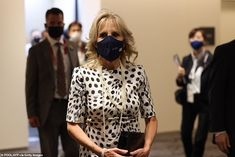 Jill Biden throws her support behind Team USA at Tokyo Olympics opening ceremony | Daily Mail Online Olympics Opening Ceremony, Jill Biden, Tokyo Olympics, Boris Johnson, Team Usa, How To Look Classy, Olympic Games, Dot Dress, Lady