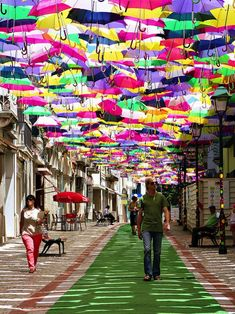 Umbrella Sky during the Agitagueda Art Festival in Portugal in July!