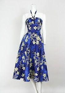 Current bid: $53 Vintage 40's Alfred Shaheen Surf n Sand Deadstock Hawaiian Dress Original Tags