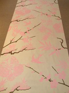 Pin and brown toile wedding runner by The Original Runner Company