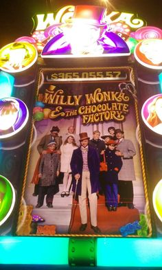 Played this awesome Willy Wonka slot machine at Wildwood Casino, Cripple Creek, CO, Oct. 2016. It was so much fun. You win golden tickets with movie scenes. Music from the movie. Most fun I ever had playing a game.