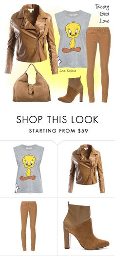 """""""Tweety Bird Love"""" by debbie-michailides ❤ liked on Polyvore featuring Paul & Joe Sister, Sans Souci, AG Adriano Goldschmied, Rachel Zoe and Gucci"""