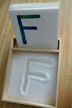 Fun and clever way to teach your toddler how to write letters.