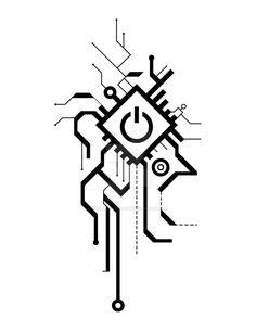 Circuit tattoo through indelible existence - SPECIAL .- Schaltung Tattoo durch unauslöschliche Existenz – SPEZIAL – … Circuit tattoo through indelible existence – SPECIAL – - Tech Tattoo, Tatoo Art, Body Art Tattoos, Tattoo Drawings, Hand Tattoos, I Tattoo, Cool Tattoos, Norse Tattoo, Tatoos