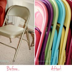 Easy -- folding chairs made cute!