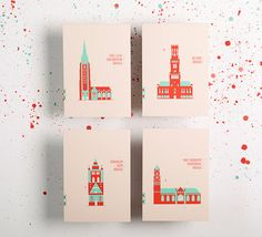 Bruges - Brugge - 2014 on Behance Bruges, Web Design Inspiration, Art And Architecture, Screen Printing, Stationery, Behance, Holiday Decor, Creative, Handmade Gifts