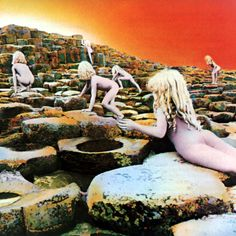 Led Zeppelin album cover by Hipgnosis & Storm Thorgerson (Houses of the Holy, 1973).