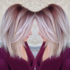 Choppy and Wavy Lob - 60 Inspiring Long Bob Hairstyles and Long Bob Haircuts for 2019 - The Trending Hairstyle Long Bob Haircuts, Long Bob Hairstyles, Summer Hairstyles, Blonde Hairstyles, Lob Hairstyle, Layered Haircuts, Hair Color Highlights, Blonde Color, Icy Blonde