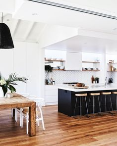 Phenomenal in making your own kitchen renovation ideas Modern Kitchen Interior Remodeling Kitchen goals right here! Our latest, Kitchen Ikea, Wood Kitchen Cabinets, Home Decor Kitchen, Kitchen Flooring, Kitchen Living, New Kitchen, Home Kitchens, White Cabinets, Kitchen White
