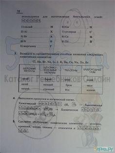 Ответы к заданиям на странице №18 - Химия 8 класс рабочая тетрадь Габриелян ГДЗ