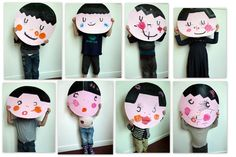 French kinder self portraits Kindergarten Art Lessons, Art Lessons Elementary, Lessons For Kids, Kids Crafts, Arts And Crafts, School Art Projects, Projects For Kids, Classe D'art, First Grade Art