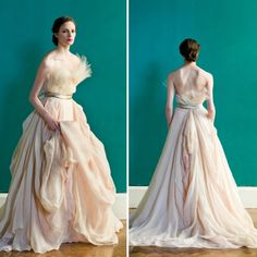 One of 18 Colorful Wedding Dresses for the Non-Traditional Bride via Brit + Co - CAROL HANNAH GRAND PALAIS DRESS (=)