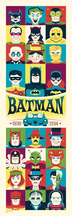 Silver Age Batman Print By Dave Peril