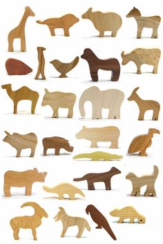 Looking to shower someone with a bounty of wood animal toys? We have you covered with these 26 wild animals (and save a few dollars in the process when you buy them all at once)! All our animals are made from natural woods: ash, cherry, maple, red oak, sassafras, and walnut. The colors