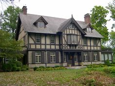 a stately Tudor-style home in Webster Groves, an affluent St. Louis suburb