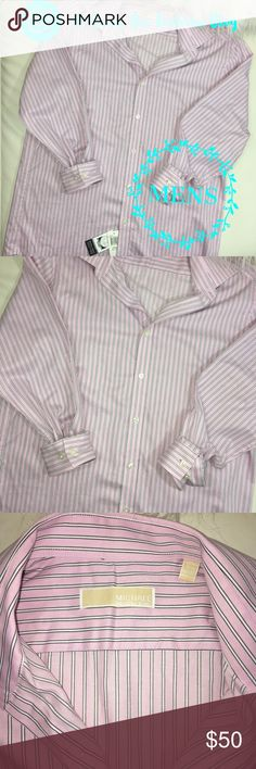 "🔵 NEW MENS  MICHAEL KORS BUTTON DOWN DRESS SHIRT NWT. Nice quality. Authentic. Bought it never used it. Hausa soft silky feel to it. Size slim fit. 15 1/2 32/33.   🎀""Add to bundle"" to add more items from my closet or ""Buy"" to checkout now.  🎀Get to know me! 💗Showing you how to style your looks at www.Queenbeefashionblog.com SUBSCRIBE.   🎀 Let's be friends! Follow me on Instagram @queenbeefashionblog Michael Kors Shirts Dress Shirts"
