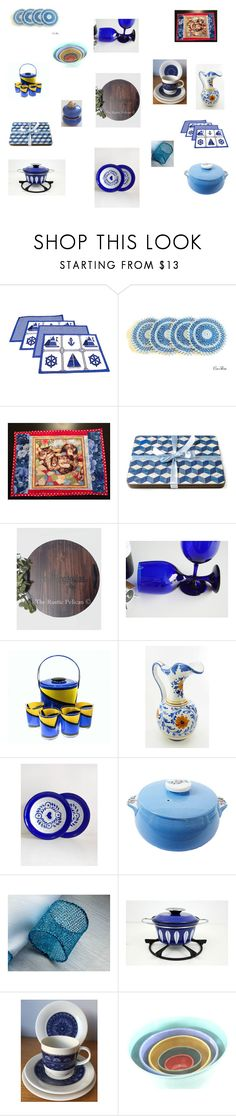 Dining Decor Ideas in Blue by einder on Polyvore featuring interior, interiors, interior design, hogar, home decor, interior decorating, MCM, Royal Doulton, Libbey and Georges Briard