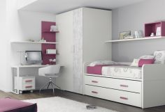 Dormitorio infantil juvenil moderno, 43-25