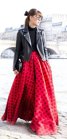 Red And Black Parisian Style