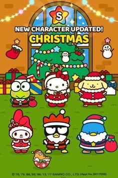 Source: HelloKittyFriends(fb). Hello Kitty Characters, Hello Kitty Themes, Sanrio Characters, Sanrio Wallpaper, Cute Anime Wallpaper, Hello Kitty Christmas, Hello Kitty Backgrounds, Little Twin Stars, My Melody