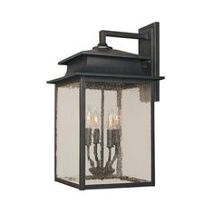 Model 9107 42: Sutton Rust Four Light Outdoor Wall Lantern World Imports Wall Mounted Ou