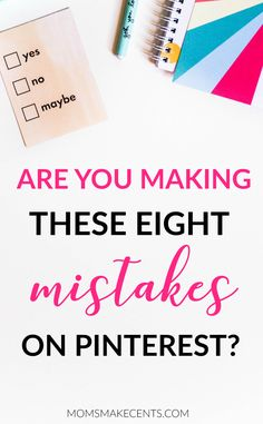 Are you using Pinterest to grow your blog? Then chances are you may be  making one of these Pinterest mistakes and that is preventing you from getting more traffic! I totally was guilty of #2.
