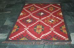 Afghan Caucasian Kilim Persian Turkish Moroccan Kilim Rug Runner Dhurrie Carpet #Turkish