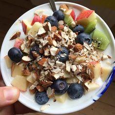 MORGENMAD  Bliver sgu lidt en gentagelse, men jeg spiser det samme hver morgen, selvom jeg...