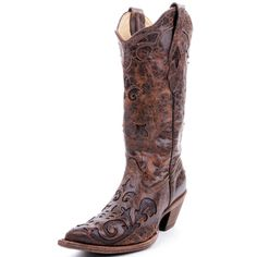 Corral Chocolate Vintage Lizard Cowboy boots