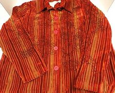 NWT COLDWATER CREEK $119 PLUS SIZE 2X JACKET/TOP RUST WITH SEQUINS. PARTY READY!