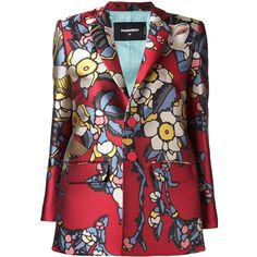 Dsquared2 'Blossom' blazer (35164560 BYR) ❤ liked on Polyvore featuring outerwear, jackets and blazers