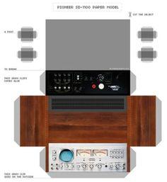 3D PAPER MODEL l PIONEER SD-1100