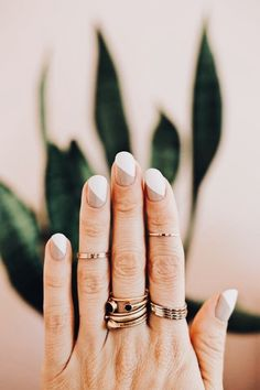 love this simple, classy and modern nail design