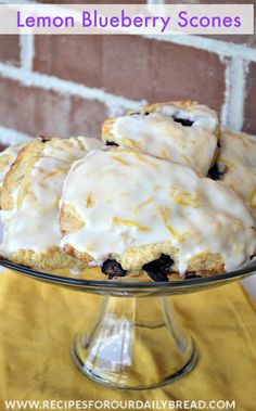#Lemon Blueberry Scones  - These scones are so full of lemon flavor and fantastic! #scones #breakfast