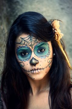 #halloween #costume #diadelosmuertos #skull #girl #brazillian #make #makeup #artistic