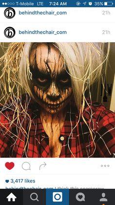 Scarecrow Scary Scarecrow Costume, Scarecrow Makeup, Halloween Scarecrow, Scary Costumes, Couple Halloween Costumes, Halloween Masks, Halloween Outfits, Halloween City, Adult Halloween Party